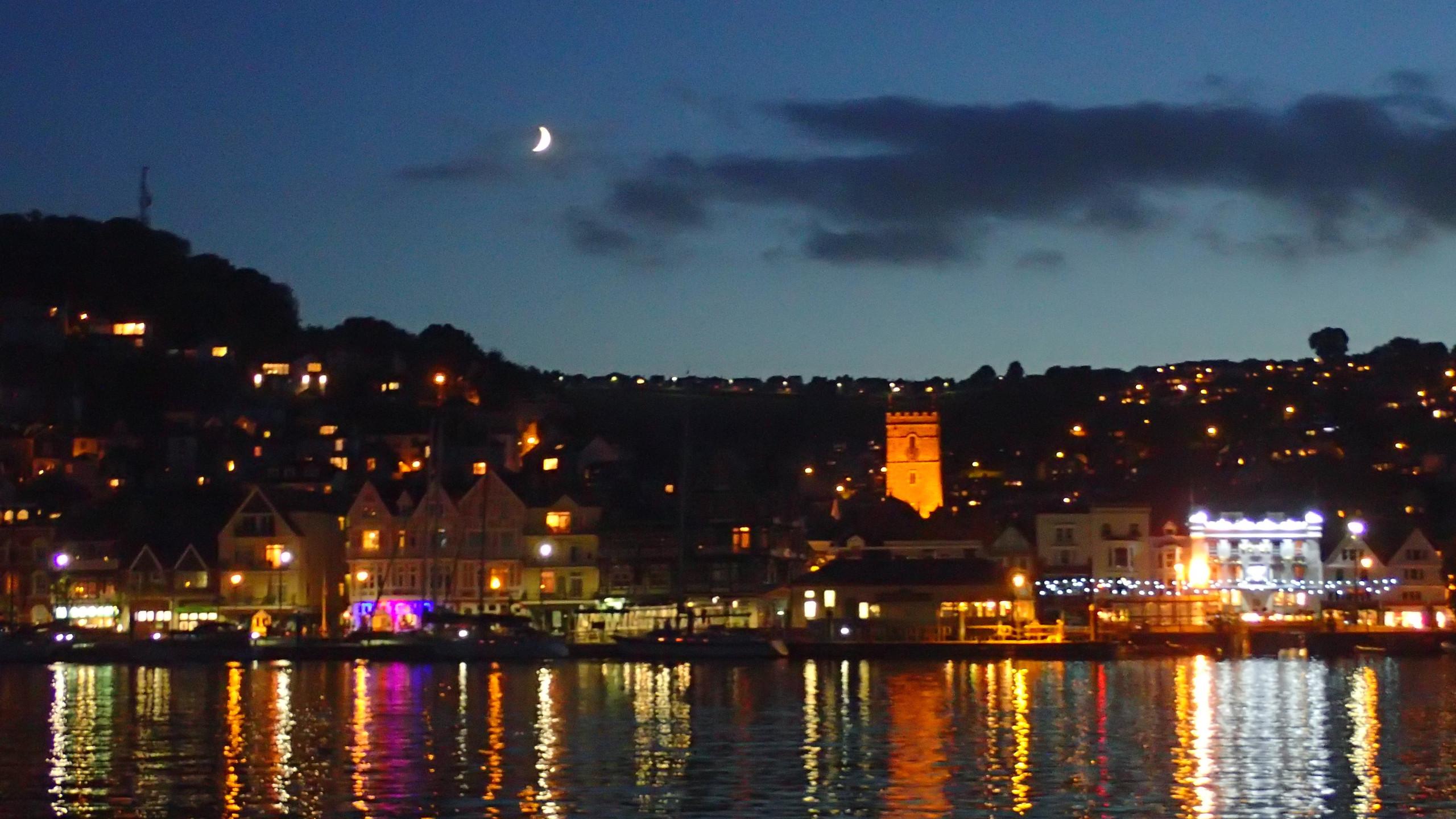 Dartmouth by moonlight