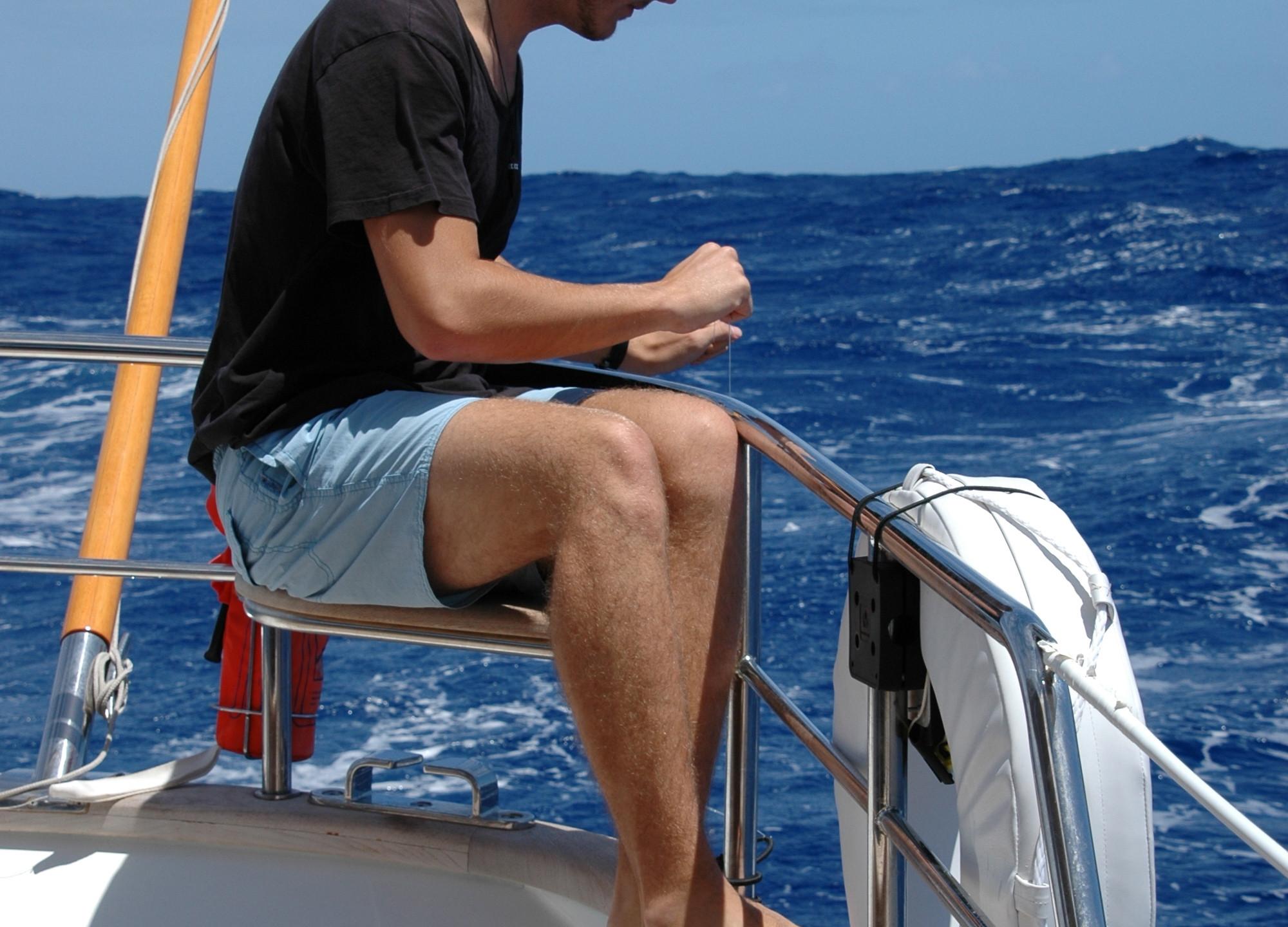 Sam fishing