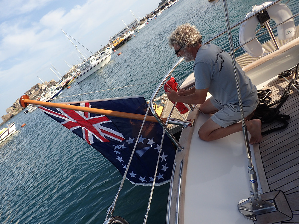Hoisting our Cook Island Flag for the first time