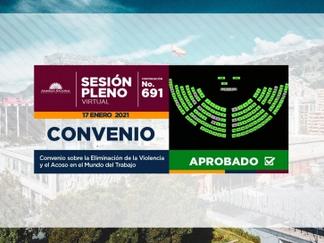Ecuador aprobó la ratificación del convenio de la eliminación de la violencia y acoso en el trabajo