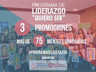 """""""Quiero Ser"""" programa que apoya la formación de jóvenes mujeres líderes"""