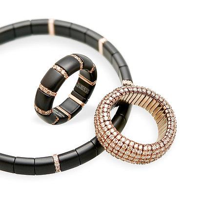 Keramikarmband bzw. -ring & Pavé Ring
