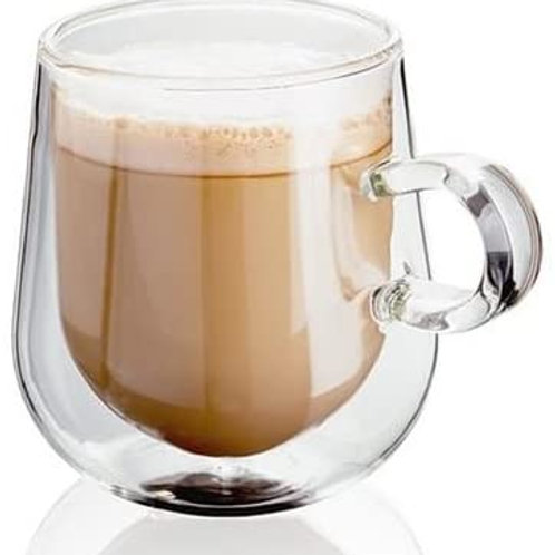 Judge Double Walled Glass Coffee Mugs  275ml (Set of 2)