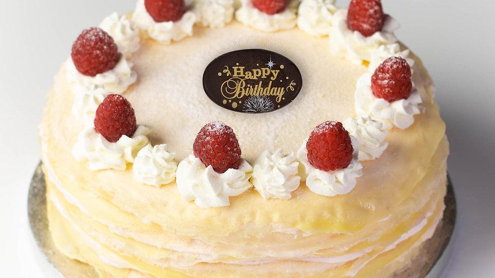 RASPBERRY CREAM CHEESE CREPE CAKE