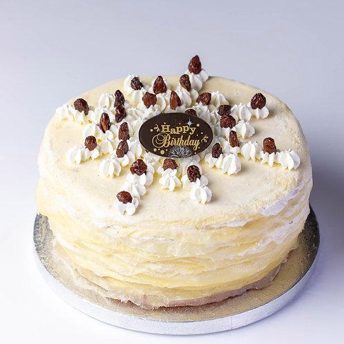 RUM & RAISIN CREPE CAKE