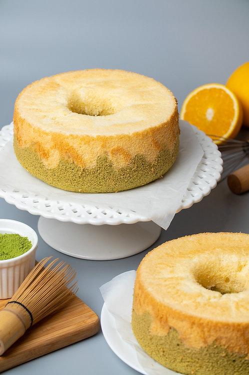 """Gluten-Free Duo Orange Matcha Chiffon 7"""""""