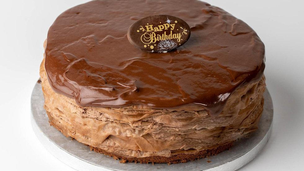 70% DARK CHOCOLATE CREPE CAKE