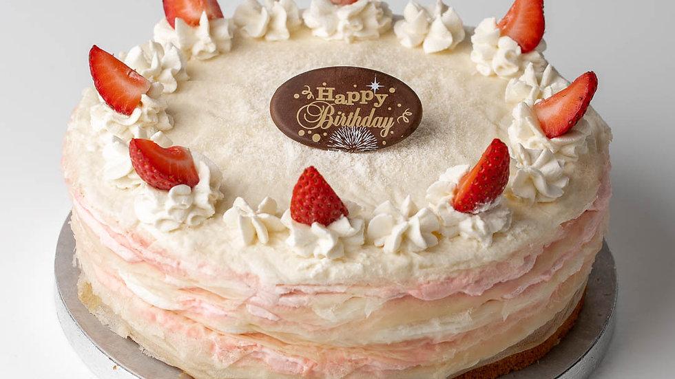 ROSE STRAWBERRY CREPE CAKE