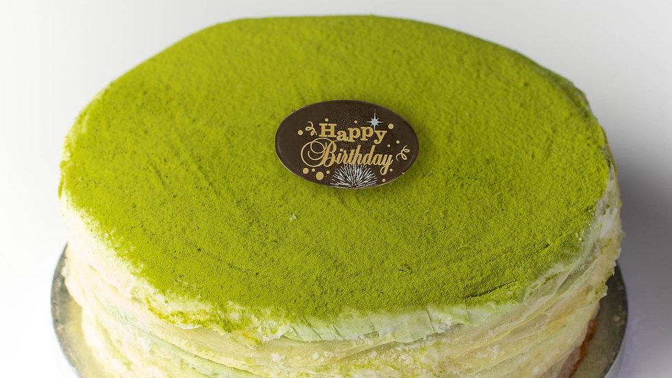 JAPANESE MATCHA CREPE CAKE