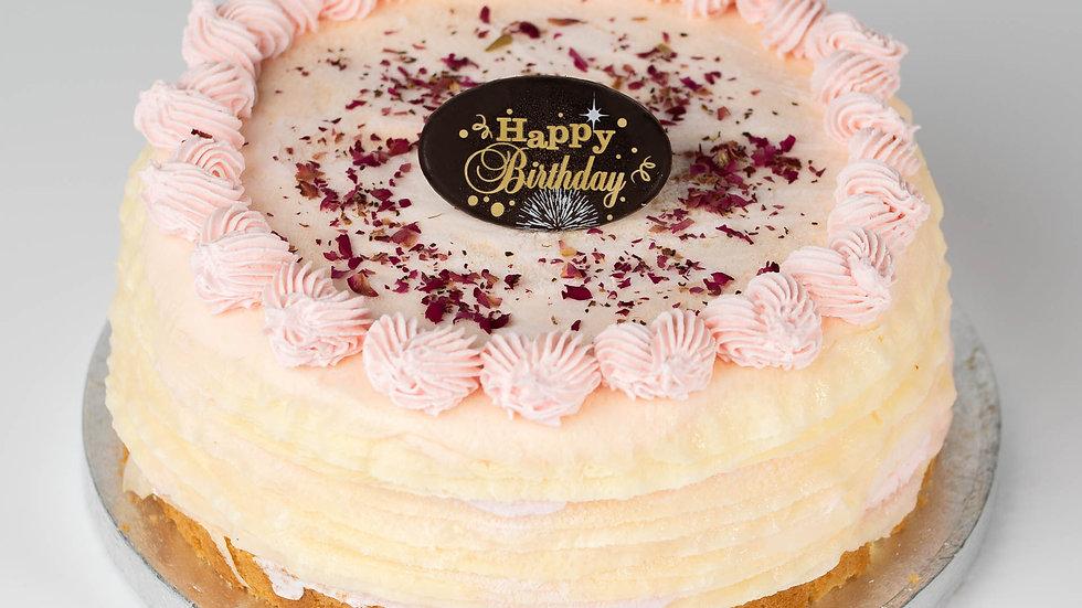 ROSE LYCHEE CREPE CAKE