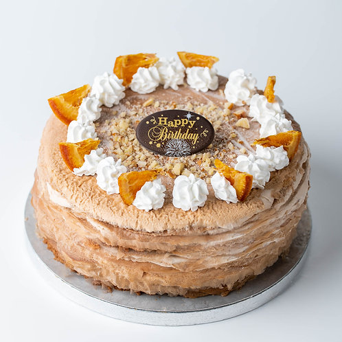 HAZELNUT ORANGE CREPE CAKE