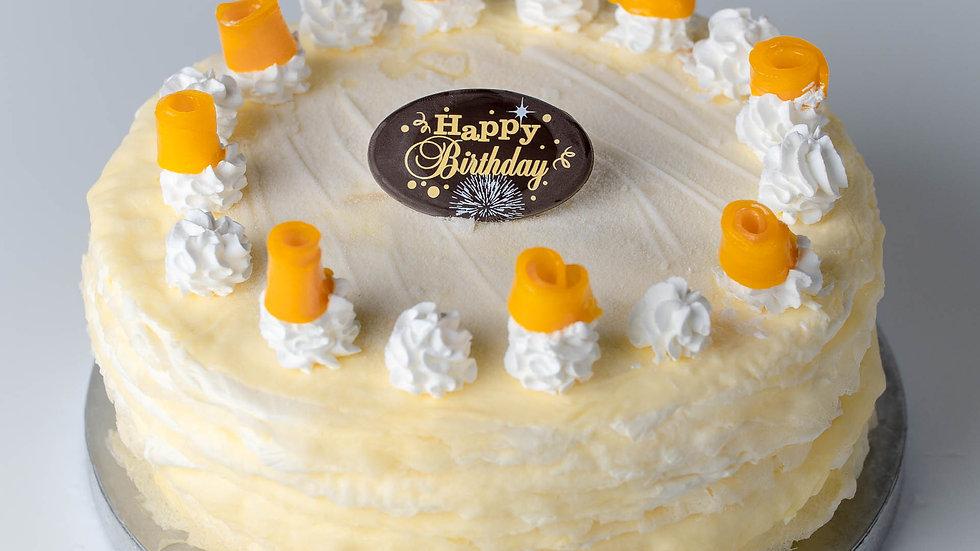 MANGO YUJA CREAM CHEESE CREPE CAKE