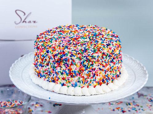 RAINBOW SPRINKLES CELEBRATORY CAKE