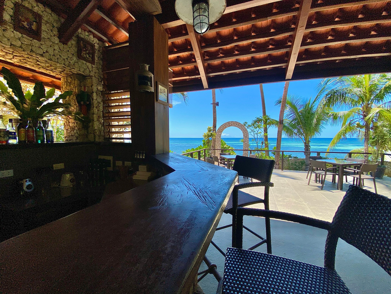 Bar avec sa vue mer