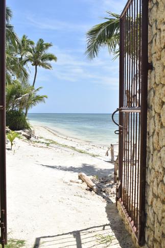 L'accès plage