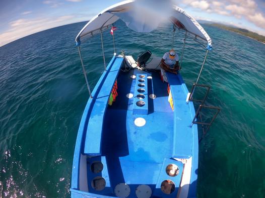 Notre bateau en mer