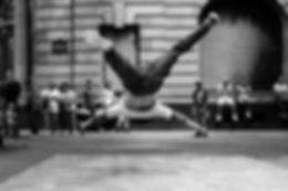 Bailarina de break de calle