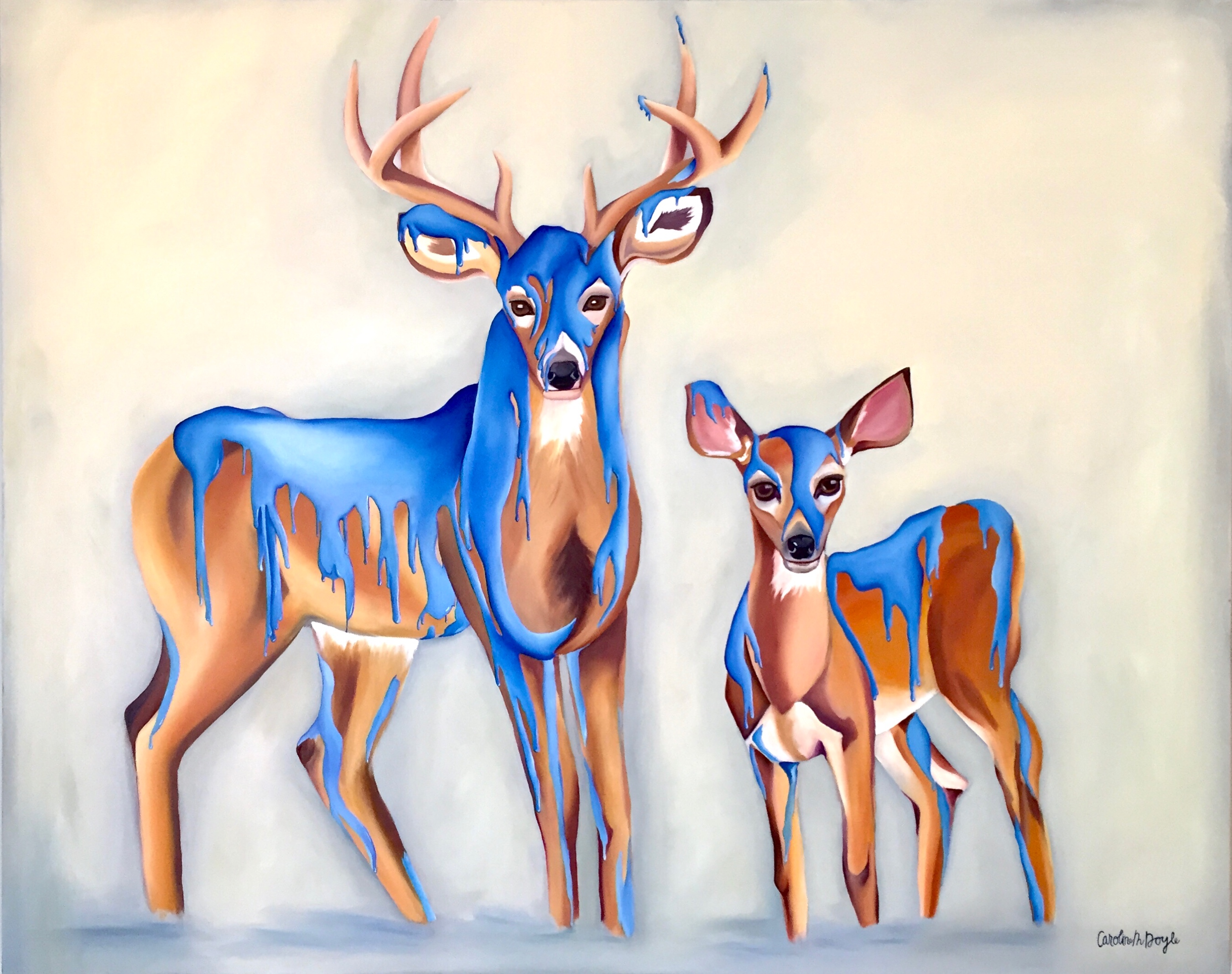 Paint Coated Deer