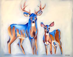 Paint Coated Deer