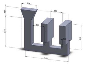圖1.幾何模型(單位:m)