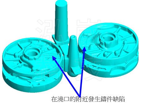 【技術電子報】應用FLOW-3D 於砂模鑄造的澆鑄系統方案設計