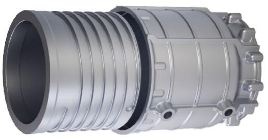 圖1 分別使用內部定子架和外部殼體組裝電動馬達殼(BMW i3等);壓鑄件生產