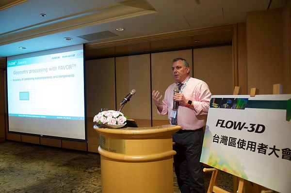 FLOW SCIENCE 副總裁Mr. John Ditter