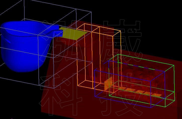 圖5.根據實際模具轉入之圖檔及FLOW-3D 網格建立
