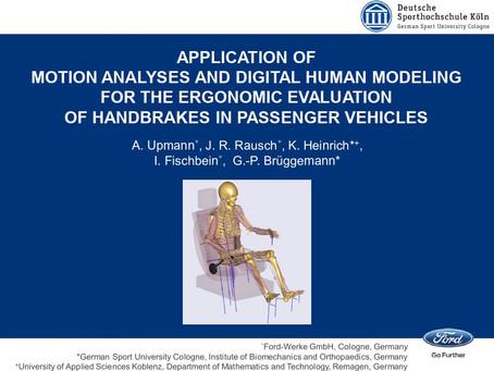 應用動作分析與數位人體模型於車輛駕駛操作手剎車的人體工學評估