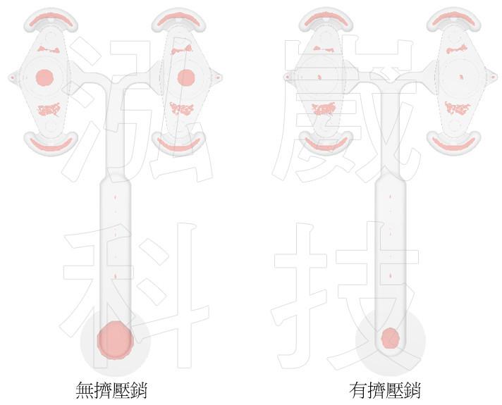 圖2 不同分析的縮孔分布