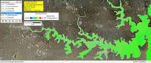 悉尼港網格在 CVLGrid 中構建並加載到 EE。