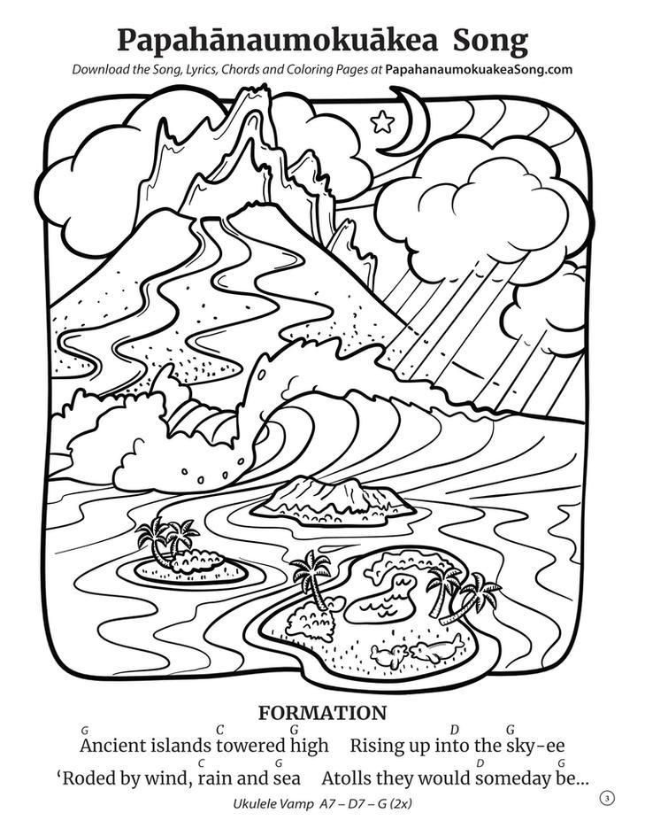 Papahānaumokuākea Song Coloring Book (page 3)