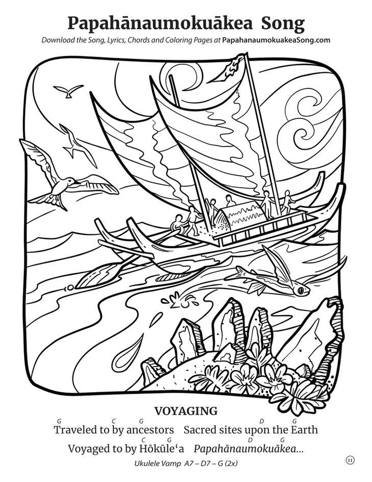 Papahānaumokuākea Song Coloring Book (page 11)