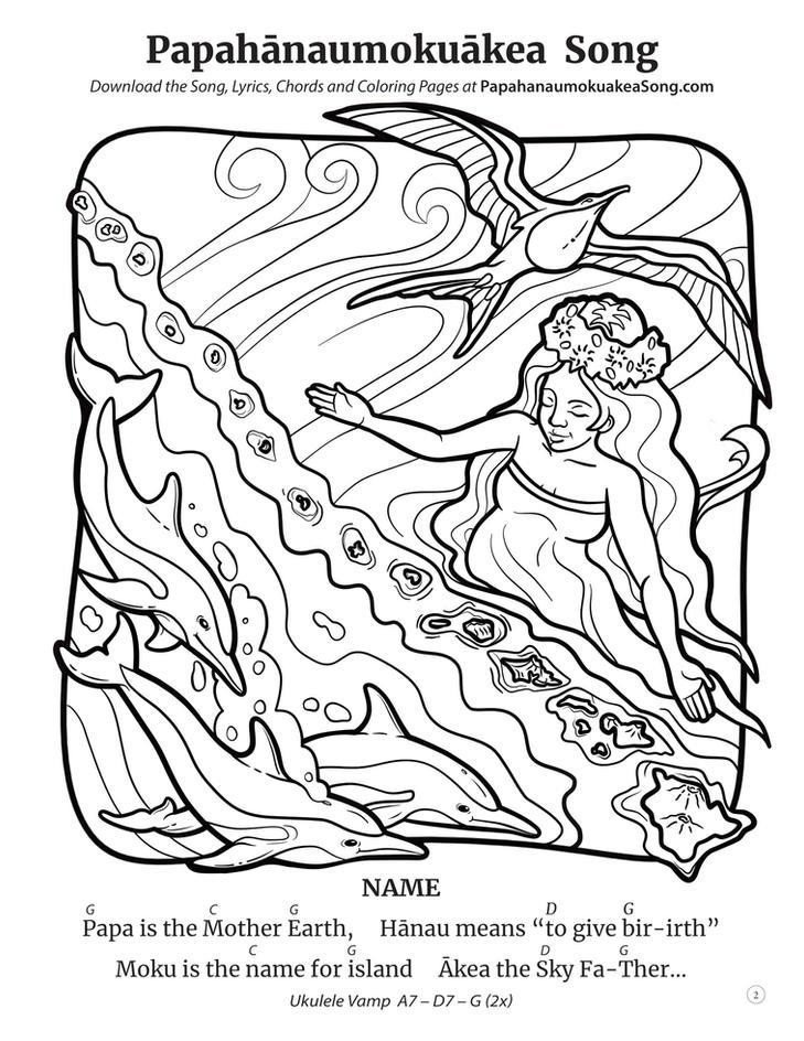 Papahānaumokuākea Song Coloring Book (page 2)