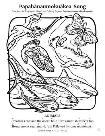 Papahānaumokuākea Song Coloring Book (page 5)