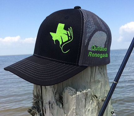 TXANTLER CAP (Blk/Charcoal w/ Neon Green)