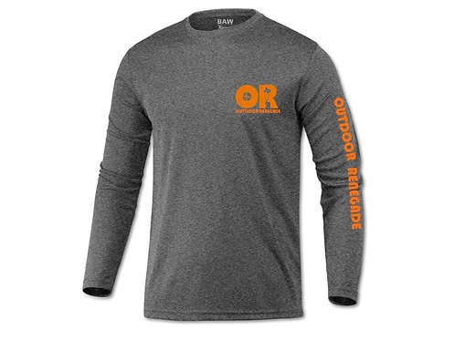 Men's Outdoor Renegade Fishing Shirt (Heather Blk w/ Neon Orange)