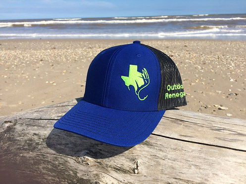 TXANTLER CAP (Royal/Blk w/ Neon Green)