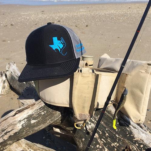 TXANTLER CAP (Blk/Charcoal w/ Neon Blue)