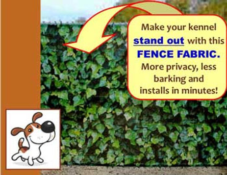 Printed fence cover
