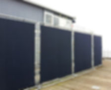 100% solid vinyl fence screen