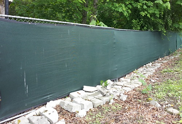85% shade factor green fence screen