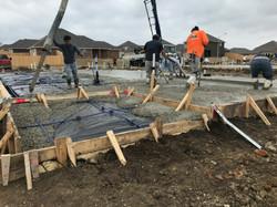 concrete slab placing