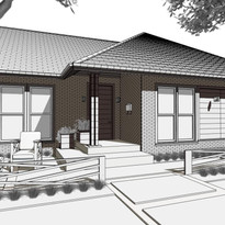 Exterior concept for Plano remodel