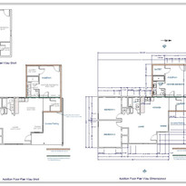 As Built and Addition floor plans for permits