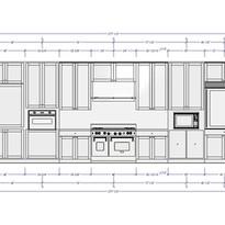 Interior dimensioned elevations