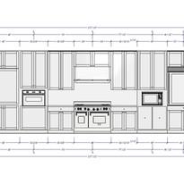 Highland Park kitchen dimensioned elevations