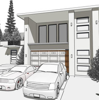Drafting Modern Cabin