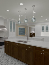 Thermador Kitchen with simple hood vent