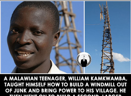 Malawian Teen Taught Himself How To Build A Windmill From Junk, Brought Power To His Village, ALL Le